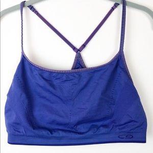 Champion Blue XL Sports Bra With Contrast Straps